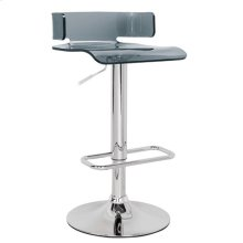SWIVEL ADJ. STOOL W/GRAY SEAT