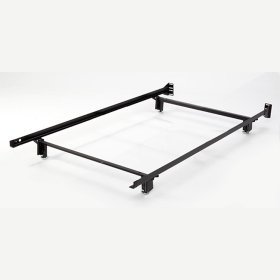 Inst-A-Matic Hospitality H738LG Low Profile Bed Frame with Fixed Headboard Brackets and (4) 2-Piece Glide Legs, Twin XL