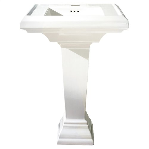 Town Square 24-inch Petite Pedestal Sink - Linen