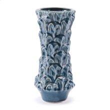 Textured Sm Vase Blue