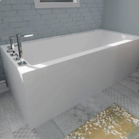 Flory De Colt Bathtub Corner With Integrated Tiling Flanges 2 Sides 5' (The skirt is on the front of the bathtub and behind the backrest)