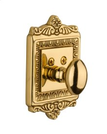 Nostalgic - Single Cylinder Deadbolt Keyed Differently - Egg and Dart in Unlacquered Brass