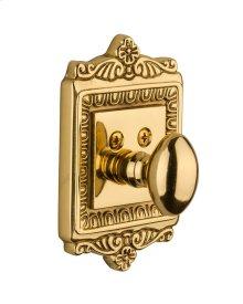 Nostalgic - Single Cylinder Deadbolt Keyed Differently - Egg and Dart in Unlacquered Brass