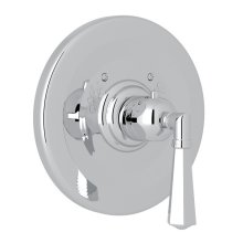 Polished Chrome Palladian Thermostatic Trim Plate Without Volume Control with Metal Lever
