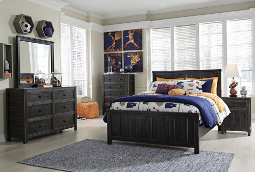 Jaysom - Black 3 Piece Bed Set (Full)