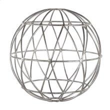 Silver Leaf Geometric 12 Inch Sphere.