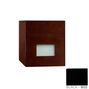 """Rebecca 12"""" Wall Mount Drawer Bridge with Glass Front in Black Product Image"""