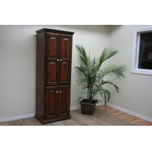 "A-T2472-FD Traditional Alder 24"" Full Raised Panel Door Bookcase"