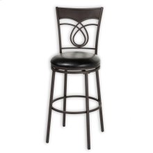Madison Metal Barstool with Black Upholstered Swivel-Seat and Umber Metal Frame Finish, 30-Inch