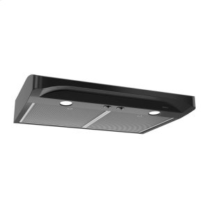 BroanAlta 30-inch 250 CFM Black Range Hood with light