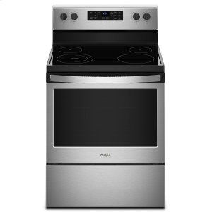 Whirlpool 5.3 Cu. Ft. Freestanding Electric Range With Adjustable Self-Cleaning Stainless Steel