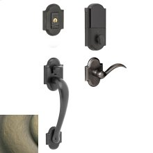 Satin Brass and Black Evolved Boulder Sectional Handleset