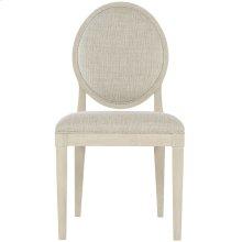 East Hampton Oval Back Side Chair in Cerused Linen (395)