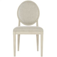 East Hampton Oval Back Side Chair in Cerused Linen (395)