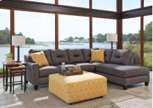 Kirwin Nuvella® - Gray 2 Piece Sectional