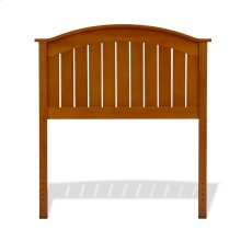 Finley Wooden Headboard Panel with Curved Top Rail Design, Maple Finish, Twin