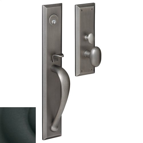 Satin Black Cody Full Escutcheon Trim