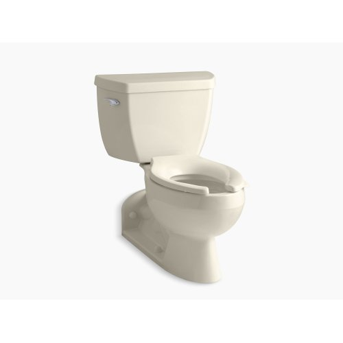 Almond Two-piece Elongated 1.0 Gpf Toilet With Pressure Lite Flushing Technology and Left-hand Trip Lever