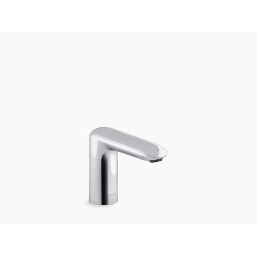 Polished Chrome Touchless Bathroom Sink Faucet With Kinesis Sensor Technology and Mixer, Dc-powered