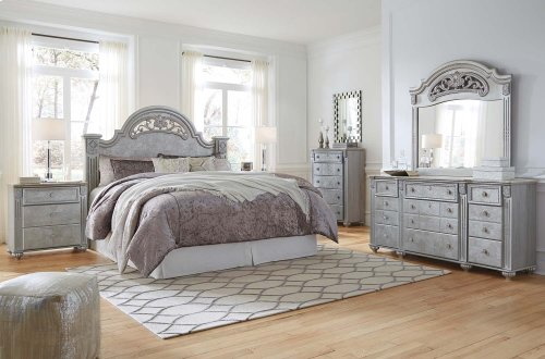 Zolena - Silver 2 Piece Bedroom Set
