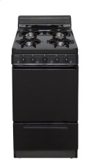 20 in. Freestanding Gas Range in Black Product Image