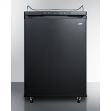 Freestanding Residential Beer Dispenser In Black, Auto Defrost W/digital Thermostat; Sold Without Tap Kit for Do-it-yourselfers Who Install Their Own Systems