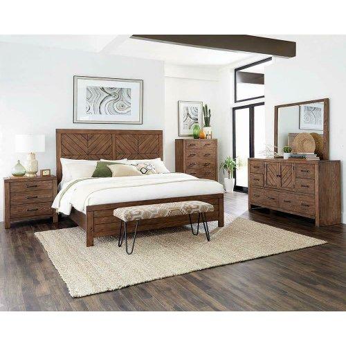 Reeves Mojave Brown Eastern King Bed