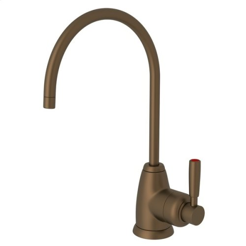 English Bronze Perrin & Rowe Holborn C-Spout Hot Water Faucet