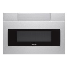 24 in. 1.2 cu. ft. 950W Sharp Stainless Steel Microwave Drawer Oven