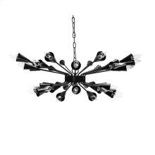 Sputnik Chandelier In Matte Black