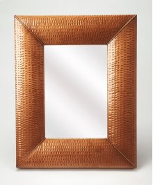 Hammered copper frame brings a touch of shimmering appeal to your ensemble, blending an industrial design with contemporary style, this mirror is perfect to bring dimension to your entry, hall or living area.