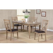 """72"""" Leg Table w/ 12"""" Butterfly Leaf and 4 Chairs"""