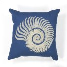 "L111 Seashell Spiral Pillow 18"" X 18"" Product Image"