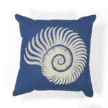 "L111 Seashell Spiral Pillow 18"" X 18"""