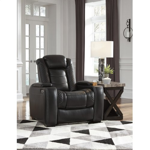 Party Time Power Recliner w/ Adjustable Headrest