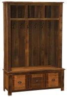 Barnwood Entry Locker Unit - Barnwood Legs Product Image
