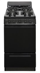 20 in. Freestanding Sealed Burner Gas Range in Black Product Image