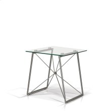 Ander Glass Top End Table