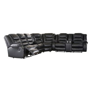 Ashley Furniture Vacherie - Black 3 Piece Sectional