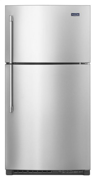 Maytag(R) 33-Inch Wide Top Freezer Refrigerator with EvenAir Cooling Tower- 21 Cu. Ft.