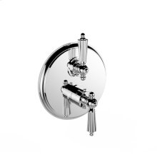 """7097ll-tm - 1/2"""" Thermostatic Trim With Volume Control and 2-way Diverter in Polished Chrome"""
