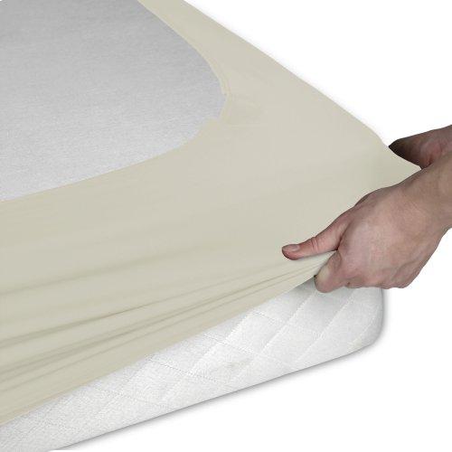 Sleep Plush + Ivory Fabric Box Spring Cover, Twin