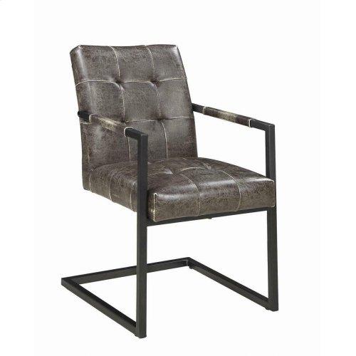 Industrial Dark Brown Dining Armchair
