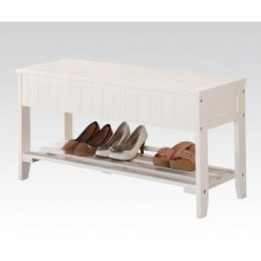 White Bench W/storage