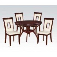 White 5pc Pk Dining Set