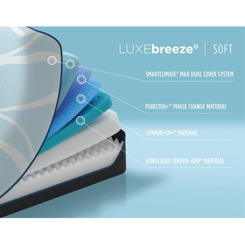 TEMPUR-breeze - LUXEbreeze - Soft - Split Cal King