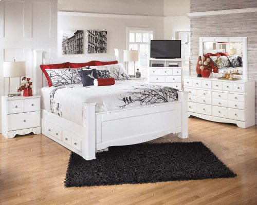 Weeki - White 5 Piece Bed Set (King)