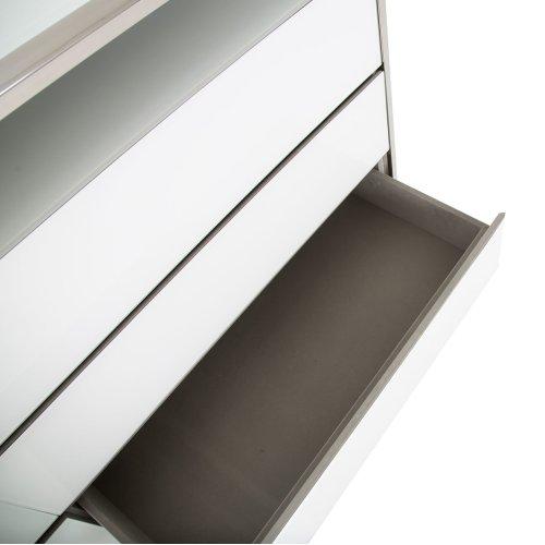Metal Dresser Glossy White