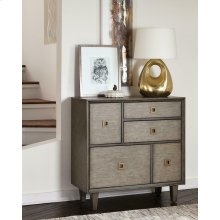 Rustic Weathered Grey Accent Cabinet