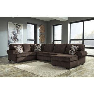 Ashley Furniture Jinllingsly - Chocolate 3 Piece Sectional